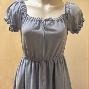 Speechless Juniors' Off-The-Shoulder Maxi Dress
